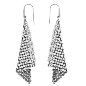 NWT Swarovski silver shade crystal earrings